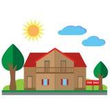 Casa para a ilustração da venda Fotos de Stock Royalty Free