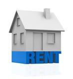 Casa para o aluguel Imagens de Stock