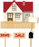 Casa para o aluguel ou a venda Imagem de Stock