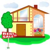 Casa para o aluguel ou a venda Foto de Stock Royalty Free