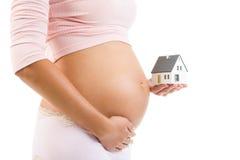 Casa para o bebê futuro imagem de stock royalty free