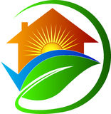 Casa para o futuro brilhante Imagem de Stock Royalty Free