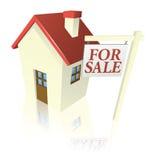 Casa para o gráfico da venda Imagem de Stock