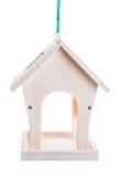 Casa para pássaros de alimentação no tempo do tempo frio do ano Imagem de Stock
