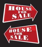 Casa para setas da venda Foto de Stock Royalty Free