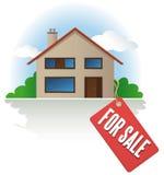 Casa para a venda Fotografia de Stock