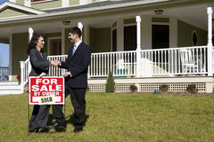 Casa para a venda Fotografia de Stock Royalty Free