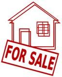 Casa para a venda Imagens de Stock Royalty Free