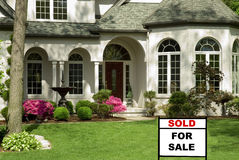Casa para a venda Imagem de Stock