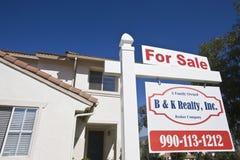 Casa para a venda Foto de Stock Royalty Free