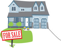 Casa para a venda ilustração stock