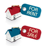 Casa para a venda e para Tag do aluguel ilustração stock