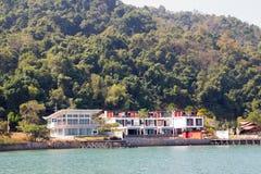 Casa pelo mar Fotografia de Stock Royalty Free