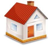 Casa pequena da vila isolada ilustração royalty free