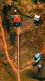 Casa pequena e farmville fotografia de stock royalty free
