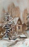 Casa pequena para o resto ilustração royalty free