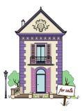 Casa pequena para a venda Imagem de Stock
