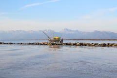 Casa pequena a pescar Fotografia de Stock Royalty Free
