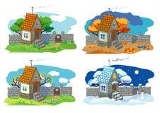 Casa pequena rural Fotos de Stock
