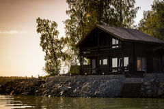 Casa per le vacanze dall'acqua Fotografia Stock