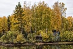 Casa perto da água Imagem de Stock Royalty Free
