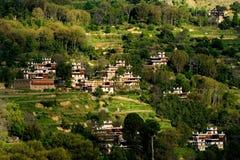 Casa piega tibetana a Danba, Sichuan Cina fotografia stock