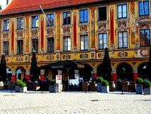 Casa pintada bonita em Memmingen Fotos de Stock