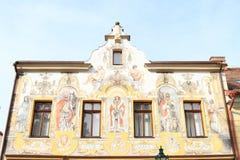 Casa pintada del renacimiento en Kutna Hora Fotos de archivo