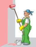 Casa-pintor Foto de Stock Royalty Free