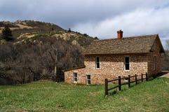 Casa pionera histórica de la granja Fotos de archivo libres de regalías