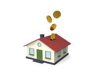 Casa - poço do dinheiro Imagem de Stock Royalty Free