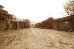 Casa pobre la India del pueblo rural Foto de archivo libre de regalías