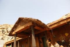 Casa pobre la India del pueblo rural Foto de archivo