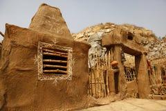 Casa pobre la India del pueblo rural Imágenes de archivo libres de regalías