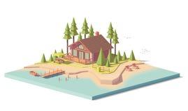 Casa polivinílica baja del vector en bosque libre illustration
