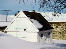 Casa por el fuerte de Kristiansten en Strondheim Imagenes de archivo