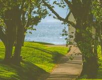 Casa por el mar Foto de archivo