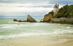 Casa por el mar Imagenes de archivo