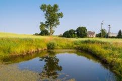Casa por uma lagoa Fotografia de Stock