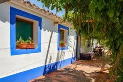 Casa portoghese tradizionale in un villaggio, l'Alentejo Portogallo Europa immagini stock libere da diritti