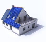 Casa posta solar Fotografia de Stock Royalty Free