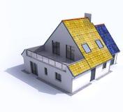 Casa posta solar Fotografia de Stock