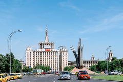 Casa Presei Libere House Of The Free Press In Bucharest Stock Images