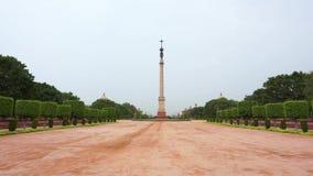 Casa presidencial de Rashtrapati Bhavan- del jardín de la India en Delhi metrajes