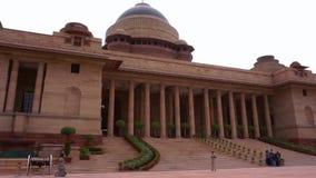 Casa presidencial de Rashtrapati Bhavan- del tiro ancho de la India de la entrada en Delhi metrajes