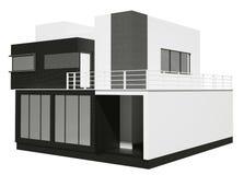 Casa privada 3d exterior Imagen de archivo libre de regalías