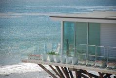 Casa privada en la playa Imagen de archivo libre de regalías
