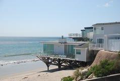 Casa privada en la playa Imagen de archivo