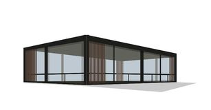 Casa privada moderna, vetor ilustração stock