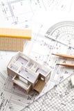 Casa, projeto, tirando Fotografia de Stock Royalty Free